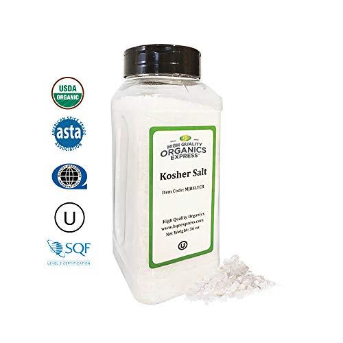 HQOExpress | Organic Kosher Salt | 36 oz. Chef Jar (Salt Kosher)