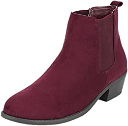Amazon.com: Red - Ankle &amp Bootie / Boots: Clothing Shoes &amp Jewelry