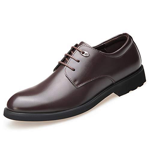 Cabeza Y Lyzgf Negocios Brown Caballeros Primavera Moda Zapatos De Cuero Casual Encaje Hombres Redonda Otoño aq1tw1Ux84