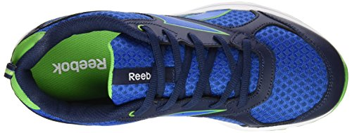 Reebok Almotio RS - Zapatillas para niño, multicolor Azul (Collegiate Navy / Bright Green / Blue Sport / )