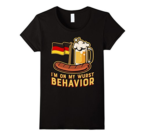 Womens Wurst Behavior Funny German Oktoberfest Beer Gift T-Shirt XL (Oktoberfest Outfits For Women)