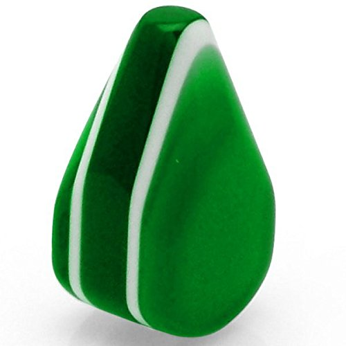 American Shifter 55931 Green Small Tear Shape Dash Knob