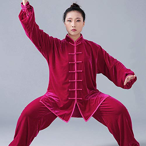 Formation Ensembles Fu Chun Unisexe Martiaux Kindoyo Rouge Costumes Traditionnel Chinois Style Hiver Kung D'arts Vêtements Épaisse A Wing Shaolin Chaud xwRqxB6fa8