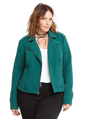Textured Knit Moto Jacket - Dress Cropped Textured Jacket