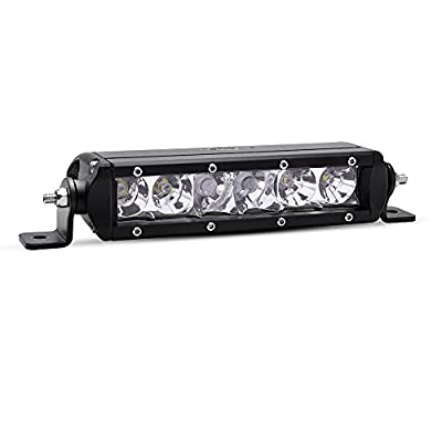 MICTUNING SR-Mini Series 8'' 30W Single Row CREE LED Light Bar COMBO Spot Flood 2700lm 400m Visibility