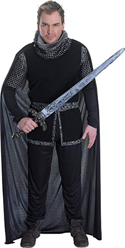 Price comparison product image Mens Historical Medieval Knight Fancy Dress Outfit Sheriff Of Nottingham Costume