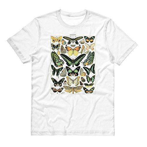 Papillons Chart Shirt Unisex Small White