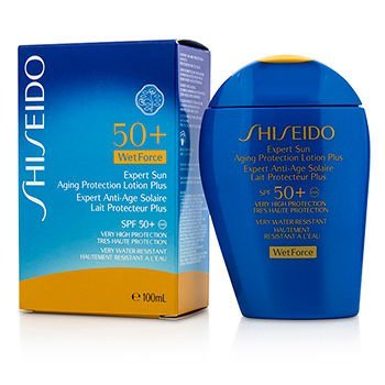 Shiseido Expert Sun Aging Protection Lotion Plus Wetforce for Face and Body SPF 50+, 3.4 Ounce