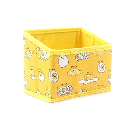 Finex Gudetama Foldable Pencil Pen Holder Storage Organizer Box for Desk - Yellow Lazy Egg Yolk