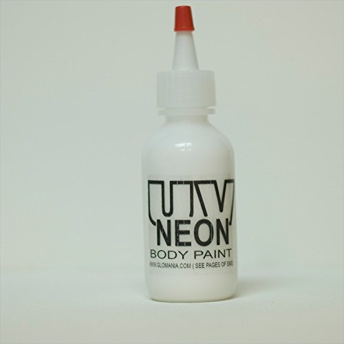 WHITE INVISIBLE UV Body Paint, Black Light Liquid Paint (1 Ounce White Light)