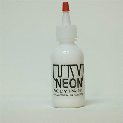 WHITE INVISIBLE UV Body Paint, Black Light Liquid Paint 1oz