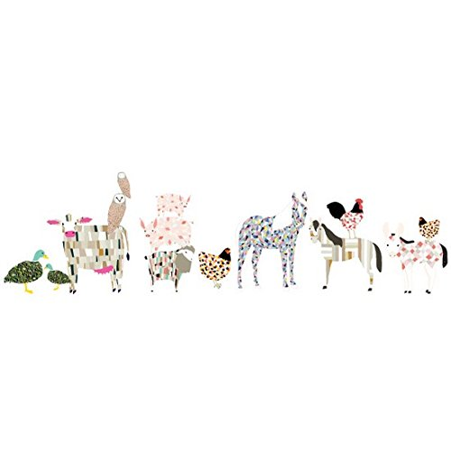 Pop and Lolli Gingiber Barn Yard Animals Large Wall Stickers by Lollipop