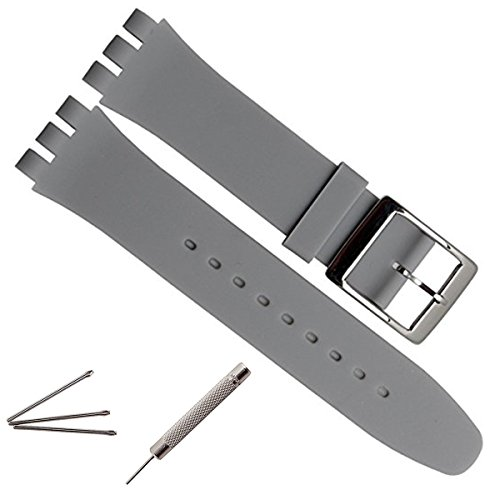 greenolive-19mm-replacement-waterproof-silicone-rubber-watch-strap-watch-band-grey