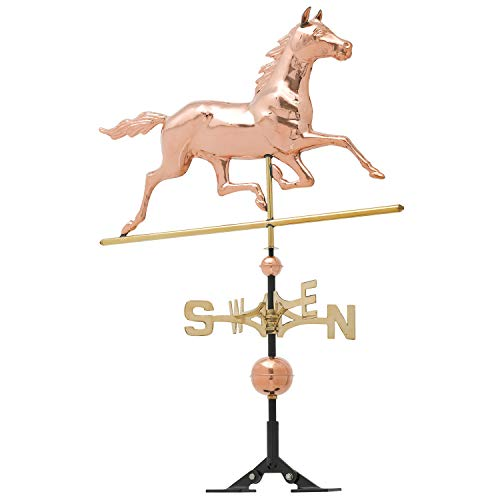 - Whitehall Products Copper Horse Weathervane, Polished