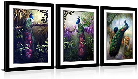 HLJ ART Modern Animals Wall Decor Painting Prints on Canva