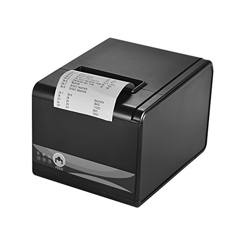 Gprinter GP-80250I Thermal Receipt Printer 250mm/s High Speed 80mm 3inch Width Serial USB Ethernet Ports for Computer POS Cash Drawer