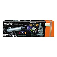 Vivitar VIV-TELMIC-30 60x-120x Refractor Telescope and Microscope Kit