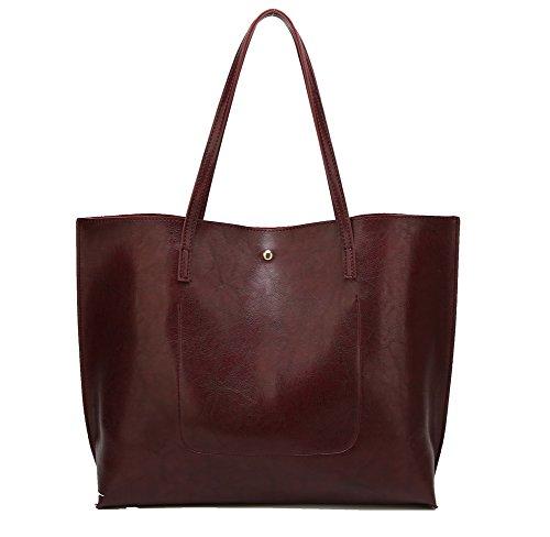 D'ufficio Voguezone009 Donna handle Top Di Rosso Frangia borse Tela Borse wXwrBd