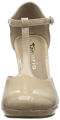 Beige Patent Tamaris Cream Pumps T Bar 452 WoMen 24428 wx10xgX