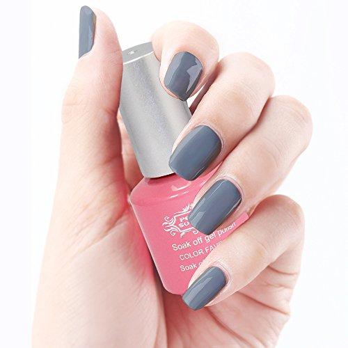 creamy gray series gel nail