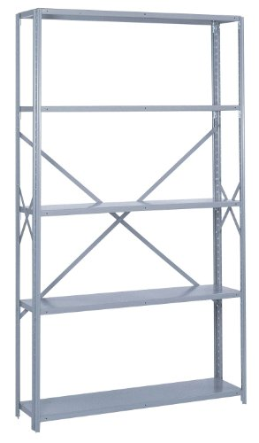 Lyon PP8457H Commercial Stand Alone Open Offset Angle Shelving with (Open Offset Angle Shelving)