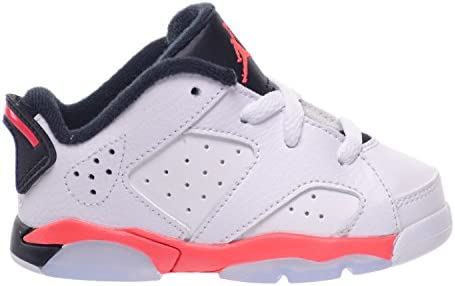 5b2a80969cd Jordan 6 Retro Low BT Toddlers Baby Infants Shoes White/Infrared 23-Black  768883