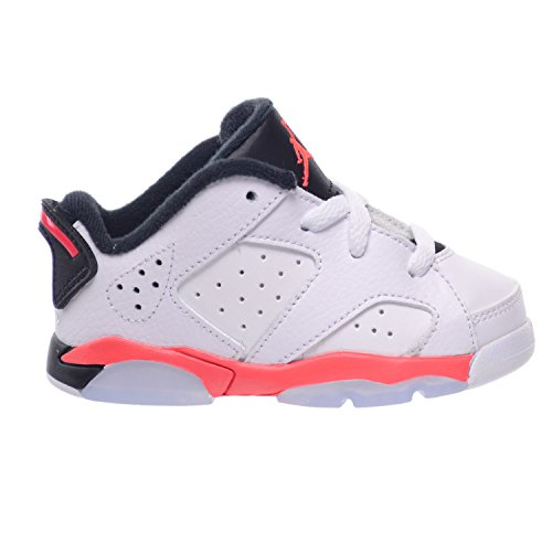 Jordan 6 Retro Low BT Toddlers Baby Infants Shoes White/Infrared 23-Black 768883-123 (7 M US) (Shoes Baby Girls Jordan)