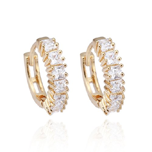 Fashion Square Crystal Hoop Women Fashion - Square Shops Herald