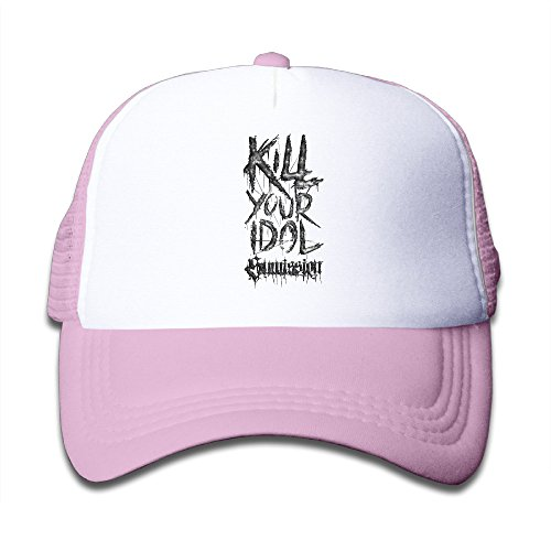 bang-aborted-kill-your-idol-adjustable-mesh-hats-for-kids-children-pink