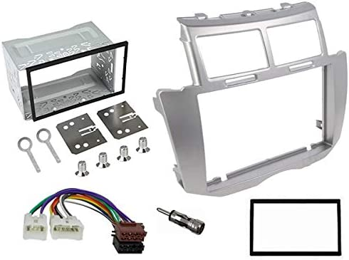 Sound Way 2 Din Radio Blende Einbau Rahmen Adapter Einbauset Kompatibel Mit Toyota Yaris 2005 2011 2d Yaris09 Auto