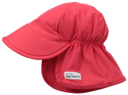 Flap Happy Baby and Childrens Swim Flap Hat UPF 50+, Highest Certified UV Sun Protection, Azo-free dye, Floats on Water, Red Large ()