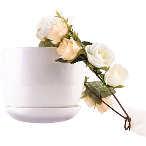 YLCOYO Flowers, Women Handmade Flower Hairband Crown Wedding Wreath Bridal Headdress (Tigers Pink Wall Clock)