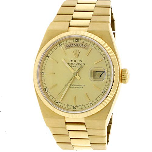 - Rolex Day-Date Oysterquartz 18K YellowGold Factory Champagne Dial 36mm