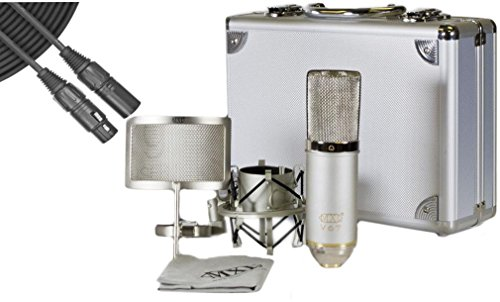 MXL V67g HE Large Capsule Condenser Microphone Heritage Edition w/ Case, Shock Mount, Pop Filter, and Mic Cable (Mxl V67g Condenser Microphone compare prices)