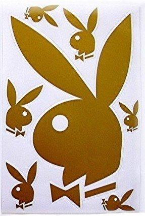 Playboy Wandaufkleber Playboy Logo Hase 7 Stück Amazonde
