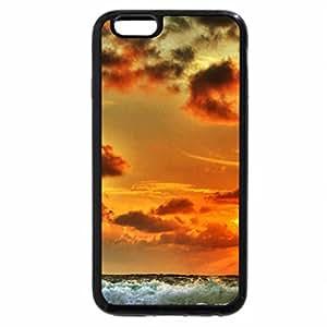 iPhone 6S Plus Case, iPhone 6 Plus Case, orange sunset over lovely sea waves