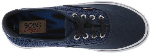 A partir de bobs Skechers La Amenaza la manera de la zapatilla de deporte Navy