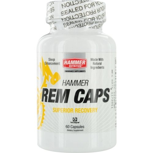 Hammer Nutrition Rem Capsules- All Natural Sleep Aid- Dietary Supplement, 60 Count