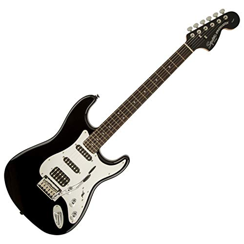 Squier by Fender Standard Stratocaster Beginner Electric Guitar - HSS - Black and Chrome