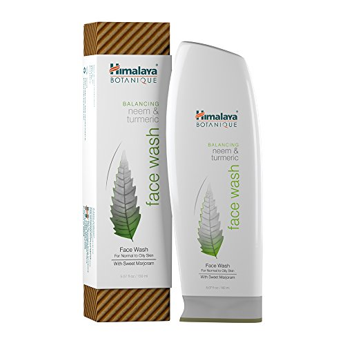 Himalaya Botanique Neem & Turmeric Natural Face Wash & Cleanser for Oily and Acne Prone Skin, 5.07 Oz/150 ml