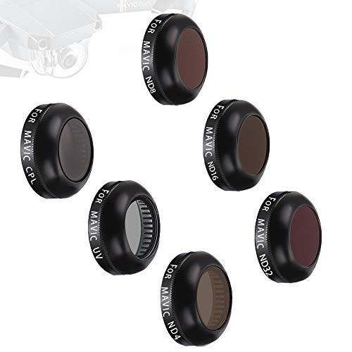 - Lens Filters for DJI Mavic Pro/Mavic Platinum Camera Lens ND Filter Polarizer Filters HD Lens Filters Kits (UV + CPL + ND4 + ND8 + ND16 + ND32 Filter) 6 Pack