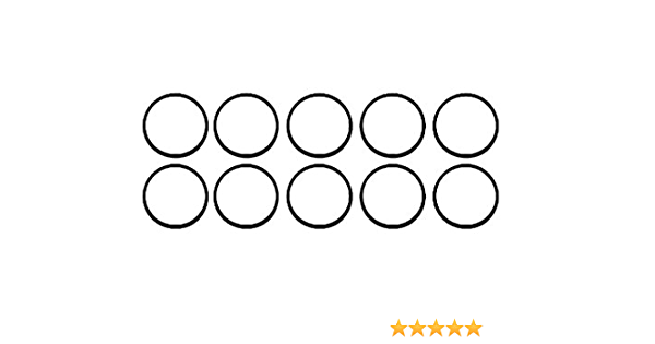 1//16 Width 009 Buna-N O-Ring 50A Durometer Round Black Pack of 125 7//32 ID 11//32 OD