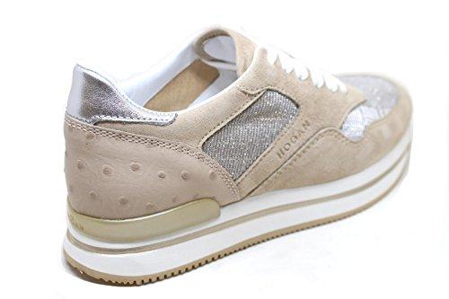 Hogan Pelle Sneakers Donna HXW2220N62DIH40RX5 Beige Uwq6zAaU