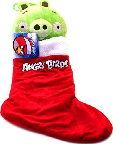 Angry Birds Christmas Plush Stocking, Piglet by Angry Birds