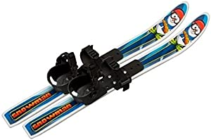 Whitewoods Snowman 70cm Cross Country Backyard Ski Set, Ages 2-4, No Poles
