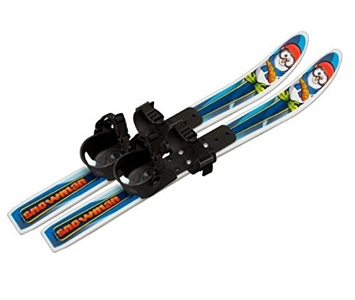 New Whitewoods Snowman Cross Country Backyard Toddler Skis 70cm Age 2-4 No Poles by Whitewoods