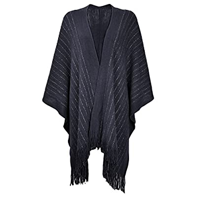 ZLYC Women Lightweight Soft Basic Chunky Knit Open Front Blanket Wrap Fringe Poncho supplier
