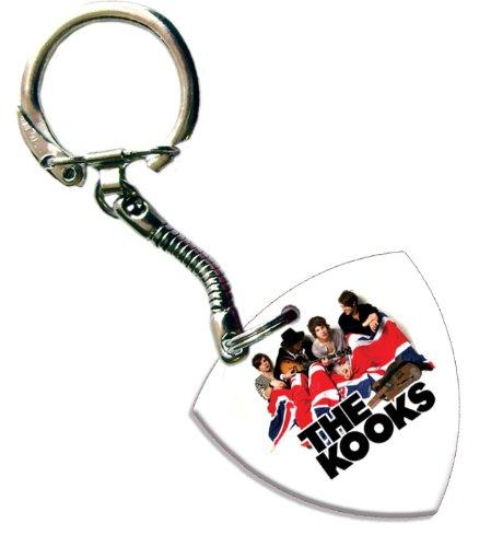 Kooks Bass Pick Keyring Keychain Band Logo Plectrum