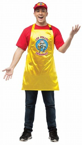 Rasta Imposta Men's Breaking Bad Apron and Visor, Yellow/Red, One Size