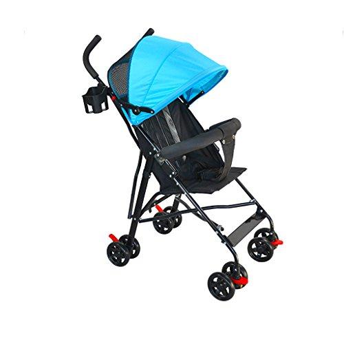 Haodan electronics Carriolas Cochecito de bebé Ultraligero de 4 Ruedas con portavasos Carrito para Paraguas de bebé...